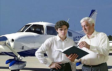Illustration of CFI teaching flight student, from Aviation Instructor's Handbook -- FAA