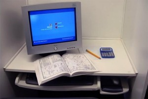 FAA Knowledge Test cubicle setup