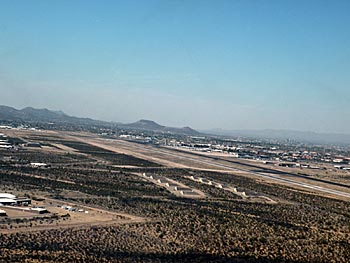 Left Base for Runways 29 at Tucson International Airport