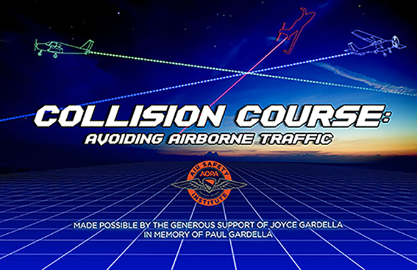 AOPA Collision Course promotional illustration.