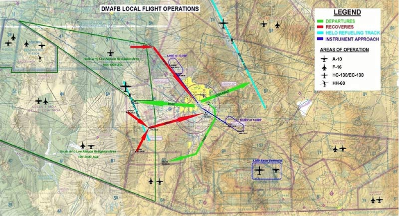 Be on alert around Davis-Monthan for fighter jet operations